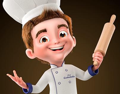 Mascote 3D - Chef Quitutinho