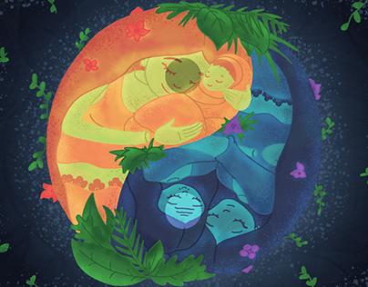 Nurturing Mother Illustration
