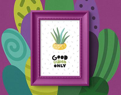 Cactus & Succulent Clipart, Patterns