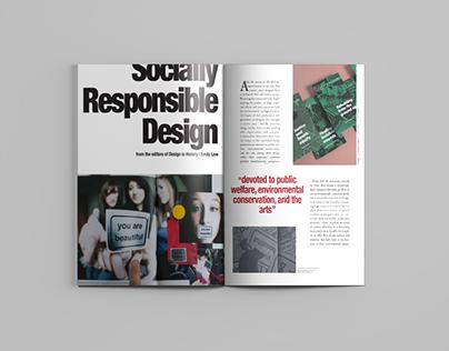 Socially Responsible Design | Magazine Editorial