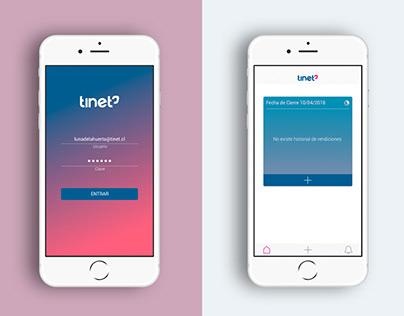 Tinet - App Rendiciones