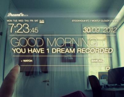 DreamOn - dream interface concept