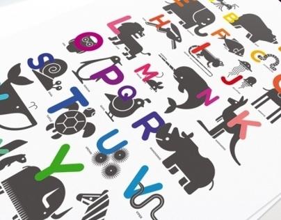ABC alphabet print for kids room