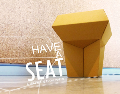 HAVE A SEAT : the stool from corrugated board