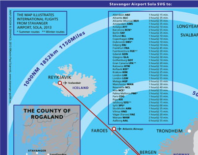 To & From Stavanger Norway Flight Connection Map