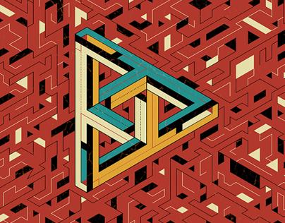 Escher & His Flat Design Band