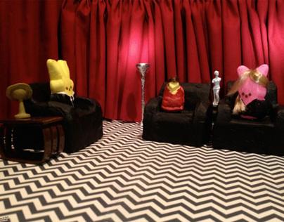 Twin Peeps diorama