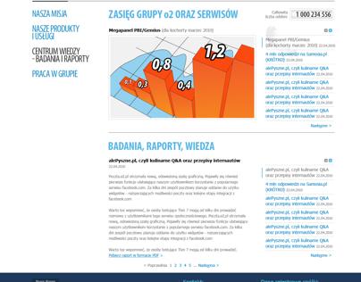 Grupa o2 / Firma o2 Website