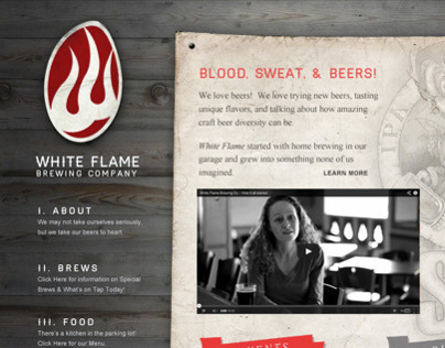 White Flame Brewing Company - Site Mock