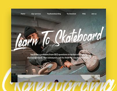 Learn to Skateboard Website