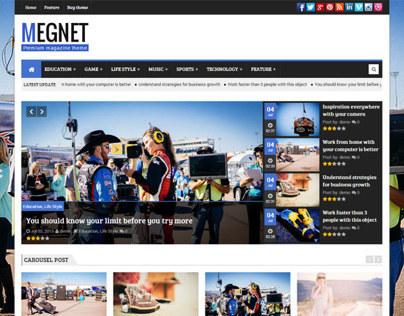 Megnet WordPress Theme