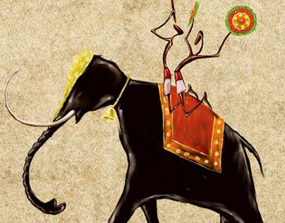 Illustration of Kerala Temple Celebration