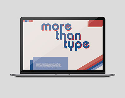 More Than Type Website