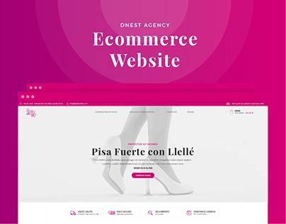 Llellé Heel Protectors. Ecommerce Website.