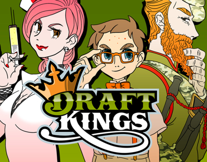 DraftKings – Beat the King Character Designs