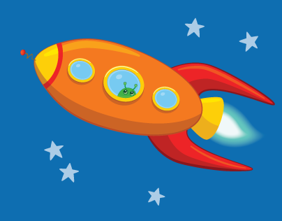 Rocketships Galore Art Collection