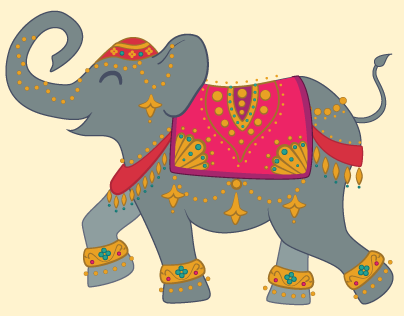 Bollywood Elephants Art Collection