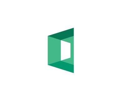 Microsoft Visit Center logo concept design