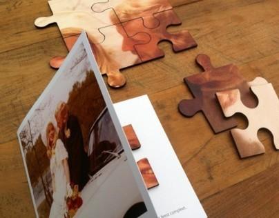 Wooden Puzzle Invitations