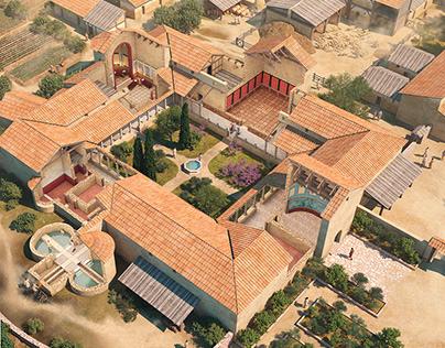 Roman villa Aguilafuente (Segovia) 4th century C.E.