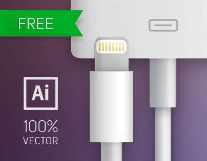 Apple Charger Cabeles 100% Vector (Free Download)