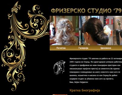 Frizersko Studio 79 - hair salon website
