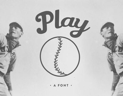 Play Ball! - A Font