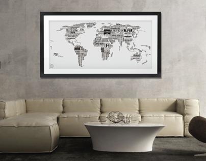 "World Map Design ""World of Life"""