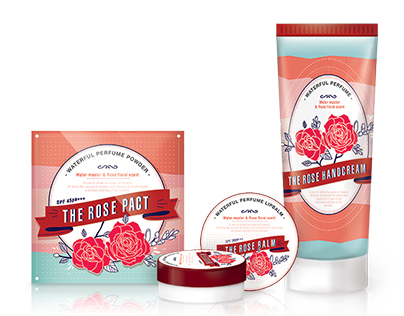 The rose cosmetic packaging