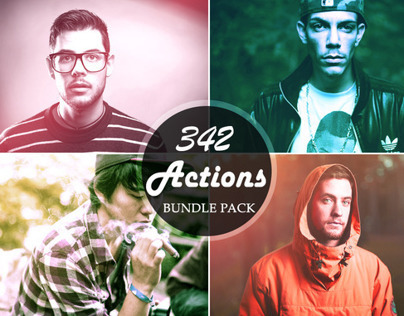 342 Premium Photoshop Action Bundle
