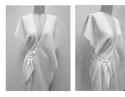 Studio - Experimental draping in silk