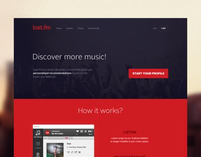 Last.fm redesign