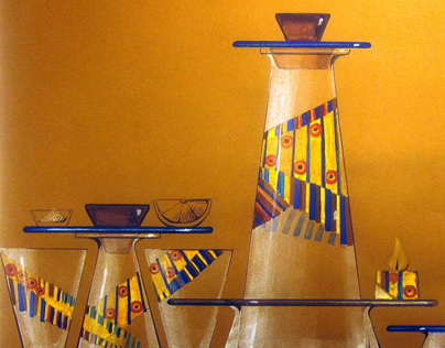 Glass set 'Mexico'