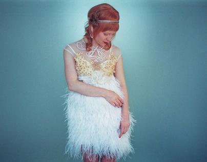 Wedding Feather Dress