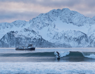 Surfing Alaska instagram video edit