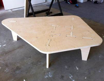 CNC Cut Coffee Table