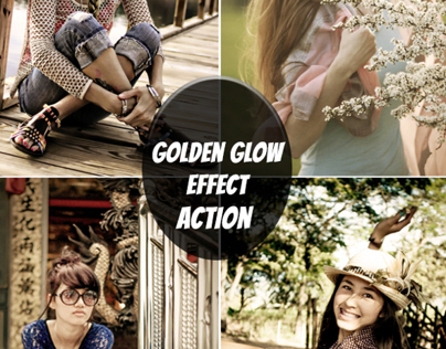 Free Photoshop Actions The Golden Glow Effect