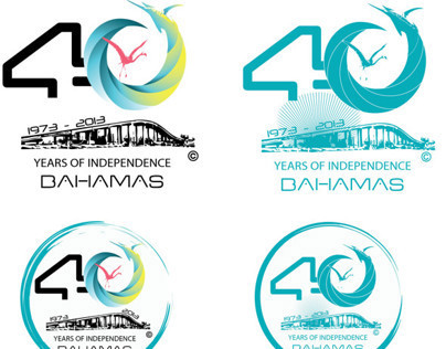 40th The Bahamas Independence Concept Design logo