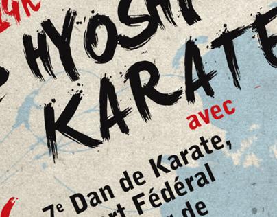 Hyoshi Karate Affiche