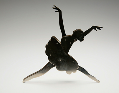 Ballerina Metal Pull Toy