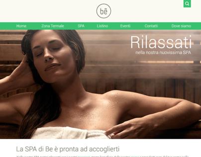 Website concept for a spa