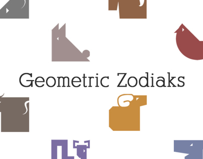Geometric Chinese Zodiaks