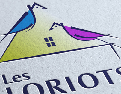 Les Loriots Logo and Corporate identity