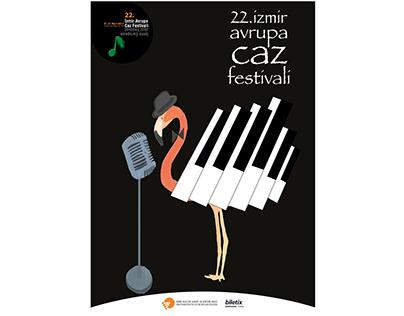 22nd Izmir European Jazz Festival Poster