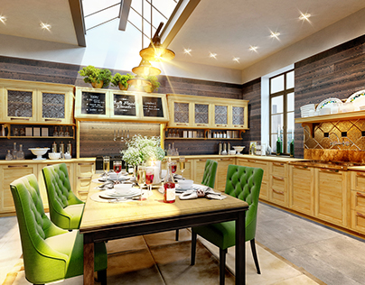 Kitchen design in the style of Loft