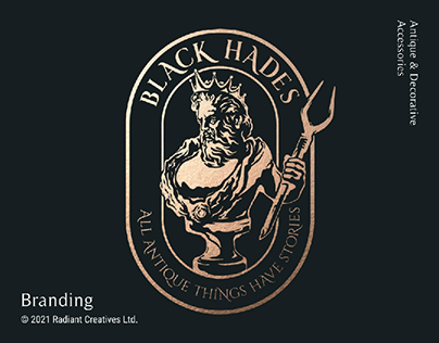 Black Hades Antique Gallery Branding