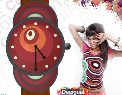 "Wristwatch Designs Inspired From Brand ""Desigual"""