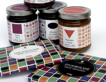 'Vasarely' Packaging for jam & chocolate