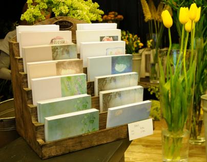 Postcards for Kukkaikkuna flower shop