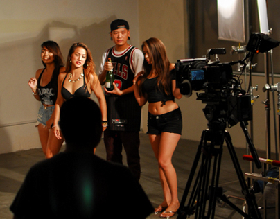 Yultron Slo-Mo video BTS with Transparent Agency